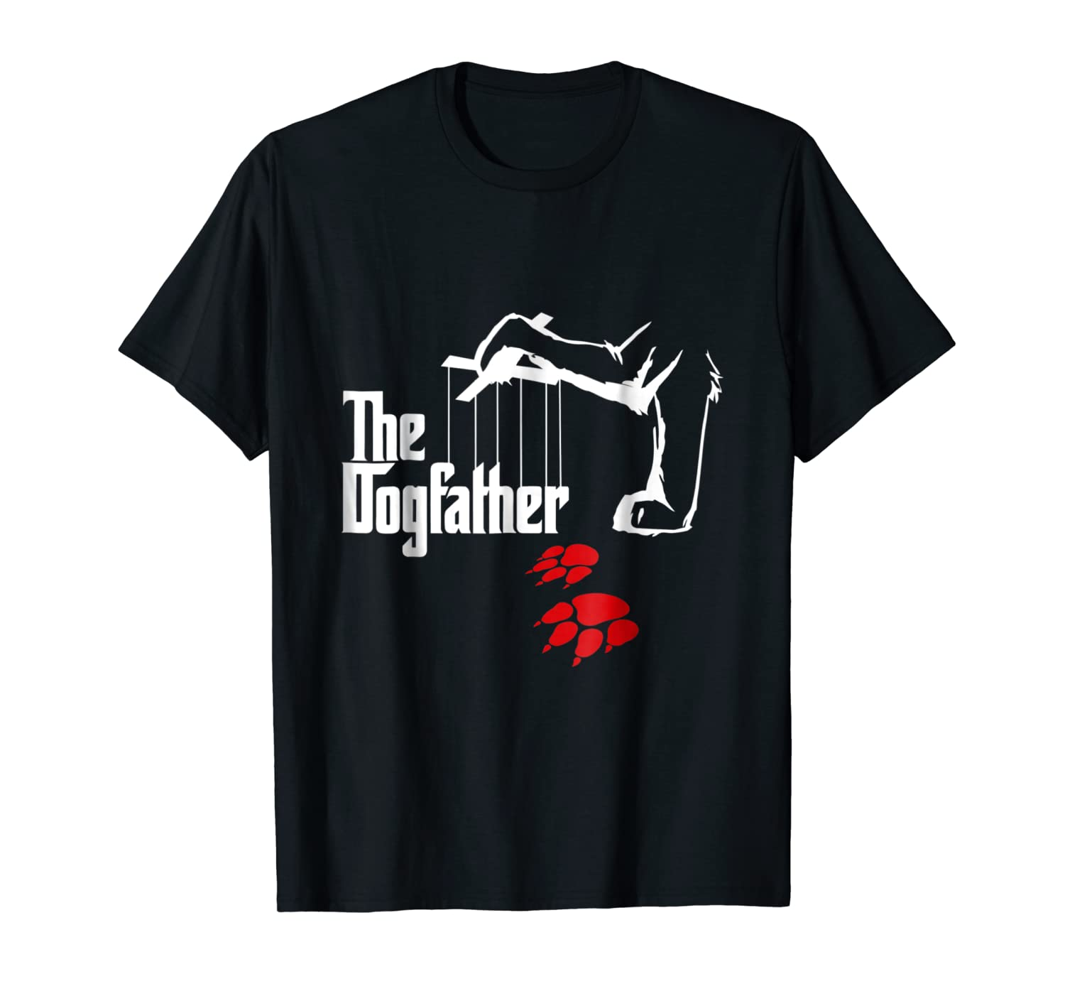 97f43038a Amazon.com: The Dogfather Funny T-Shirt Cool Father's Day Gift: Clothing