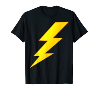 3af120d3b Amazon.com  Lightning Bolt last minute Halloween costume shirt  Clothing