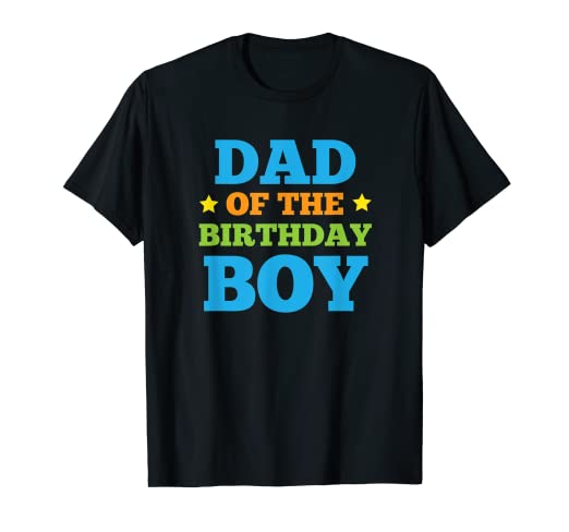 be22ef931 Amazon.com: Mens Dad of the Birthday Boy Party T Shirt: Clothing
