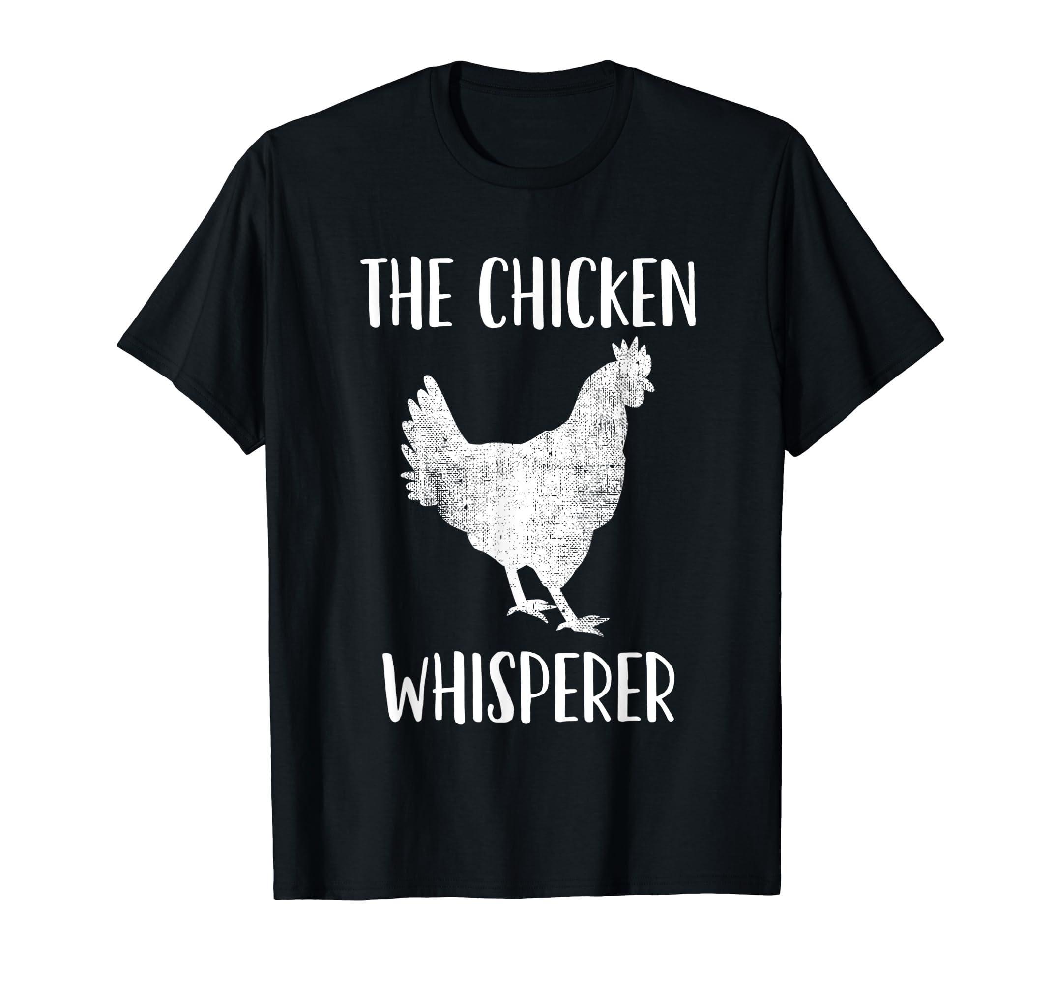 Chicken Whisperer Tshirt Gift for Chicken Farmer-Men's T-Shirt-Black