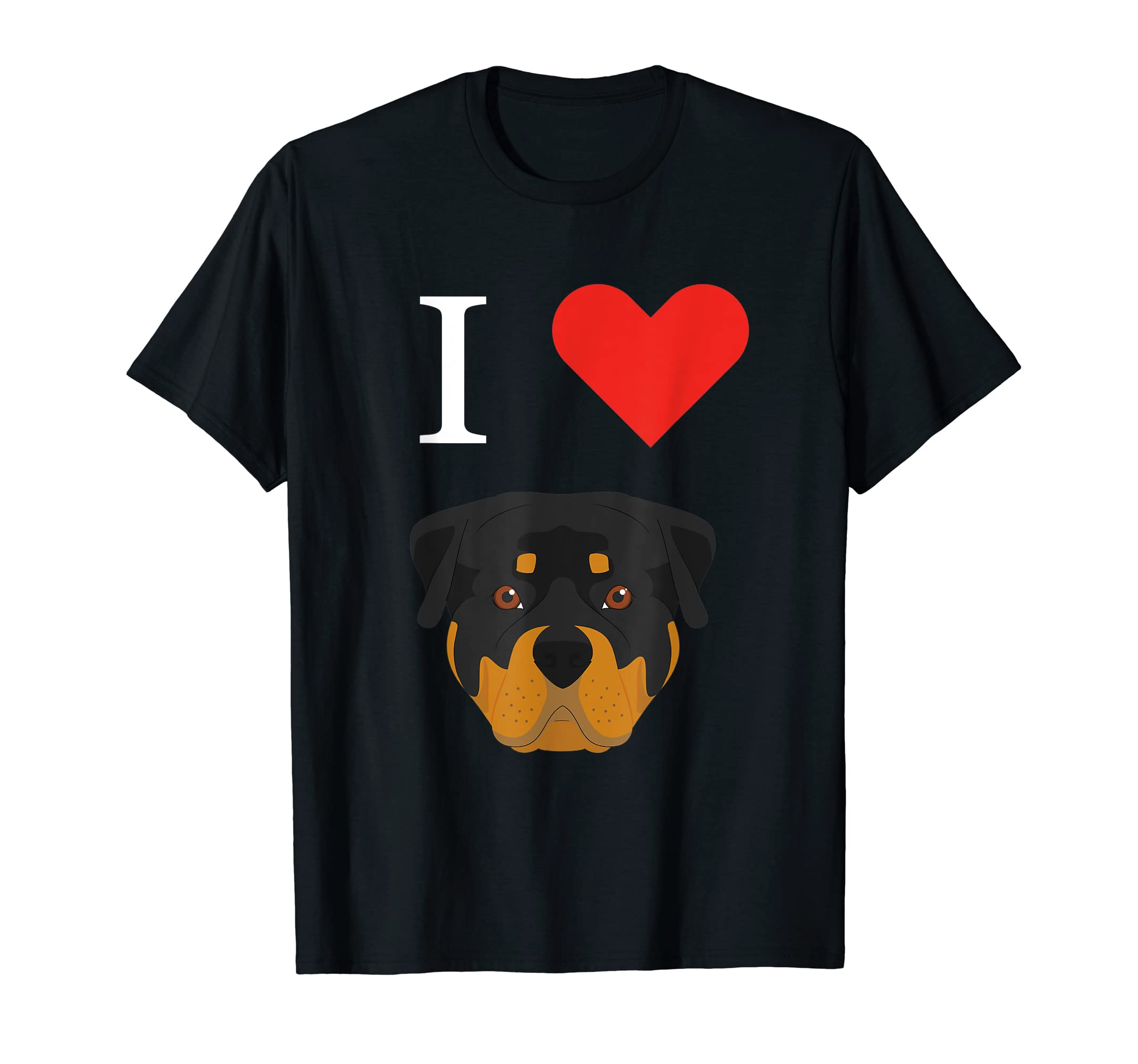 I Love My Rottweiler Dog T-Shirt-Men's T-Shirt-Black