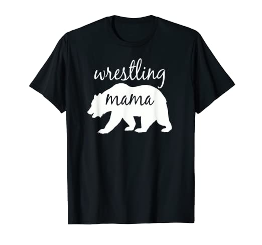 58fc7afb Image Unavailable. Image not available for. Color: Wrestling Mama Bear T Shirt  Wrestling Mom ...