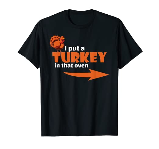 e396e1ed291 Amazon.com  Thanksgiving Turkey T-shirt Expecting Dad Pregnant Wife ...