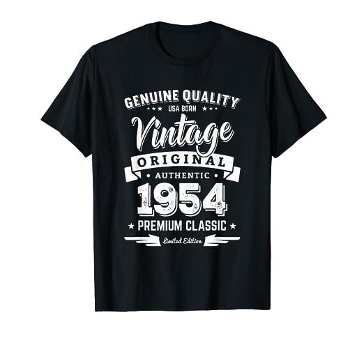 b9fa0f83c Amazon.com: Born in 1954 Vintage Birthday T-Shirt - Made in 1954 ...