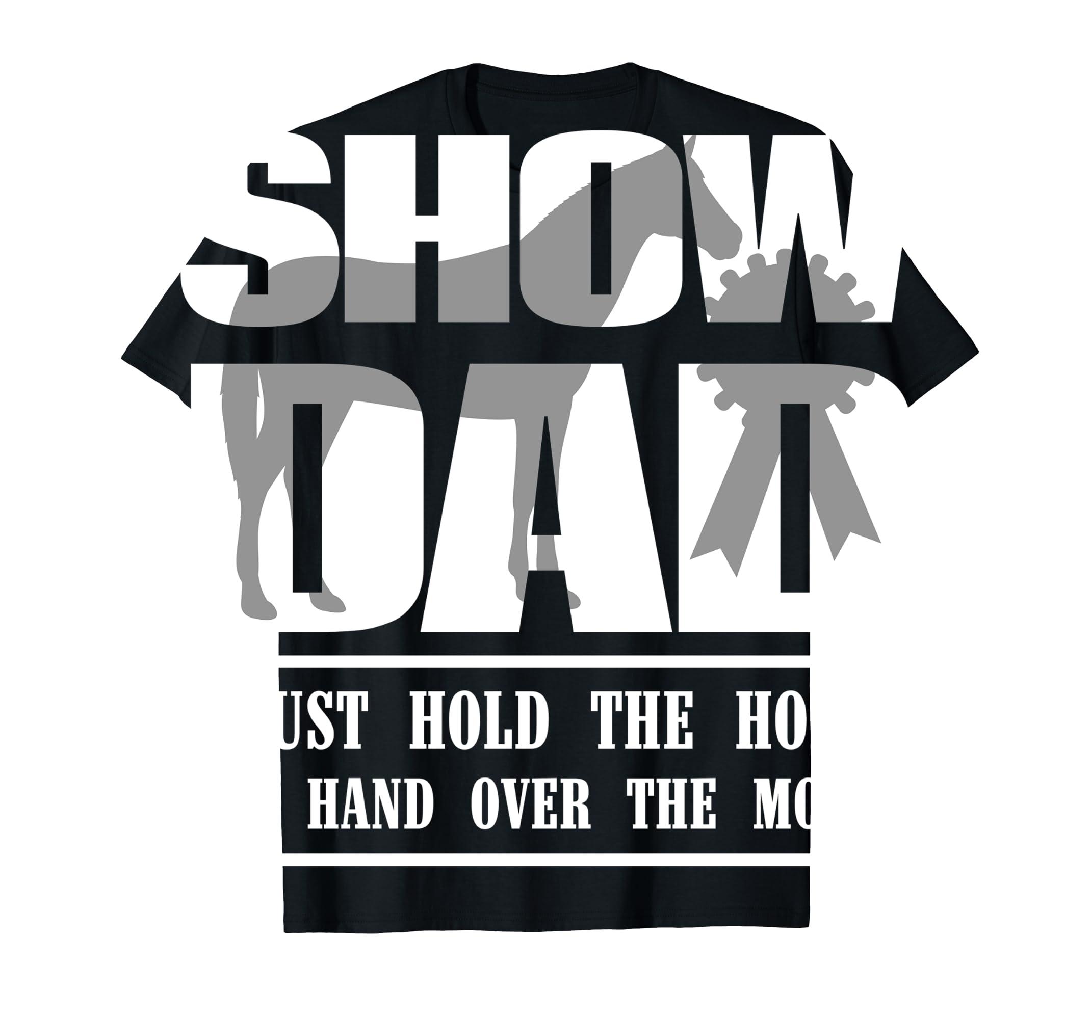 Funny Horse Show Dad T-Shirt-Men's T-Shirt-Black
