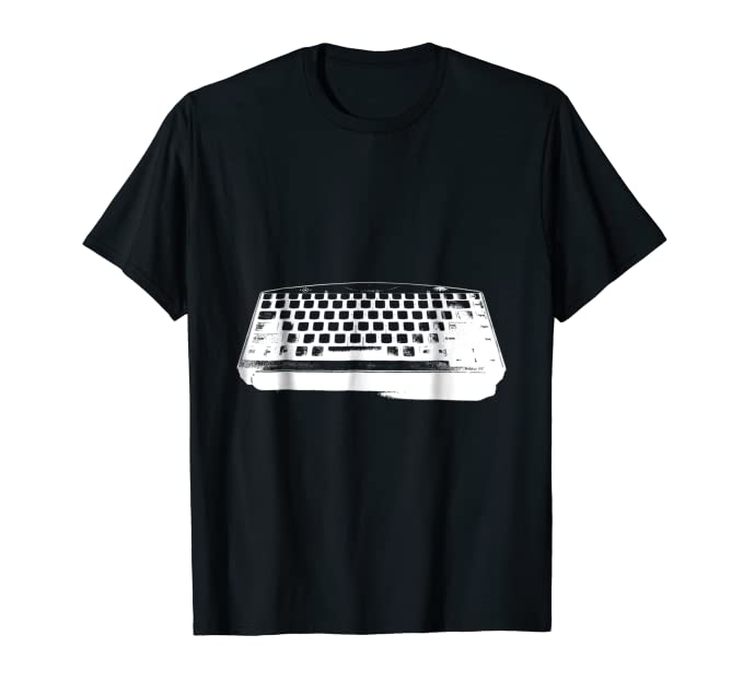 White Computer Keyboard Tee Shirt for technology nerds geeks