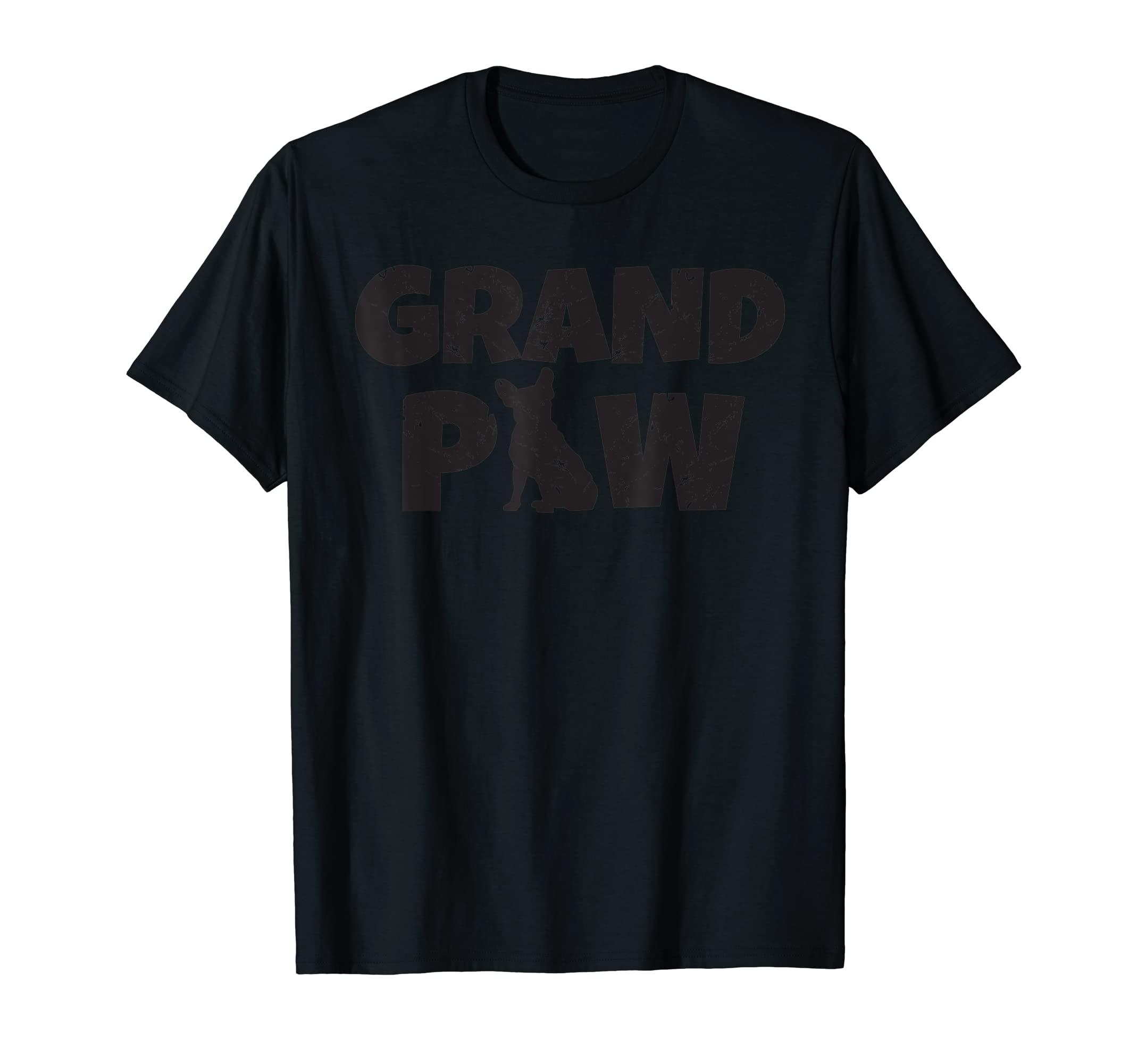 French Bulldog Grandpa Grand Paw T Shirt Dog Lovers Grandpaw-Men's T-Shirt-Black