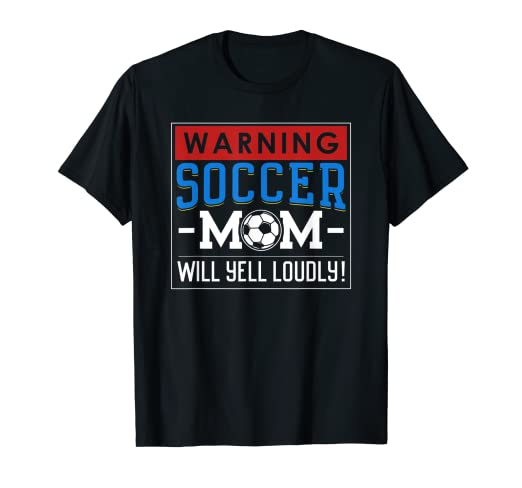 433f4570439 Image Unavailable. Image not available for. Color: Funny Soccer Mom Shirts  Mother's Day Football Saying Warning