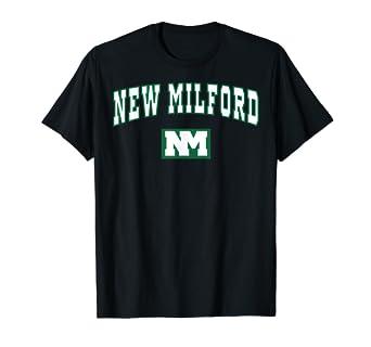 d68dee597676 Amazon.com: New Milford High School Green Waves T-Shirt C2: Clothing