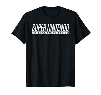 621e8d29 Image Unavailable. Image not available for. Color: Super Nintendo  Entertainment System Logo Graphic T-Shirt