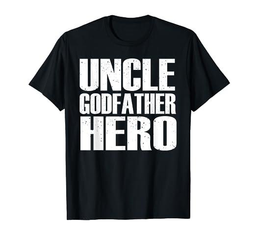 Amazon UNCLE Shirt GODFATHER HERO Funny Fathers Day Birthday