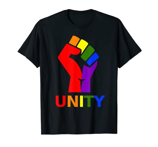 f779613dd7 Image Unavailable. Image not available for. Color  Gay Pride Clothing - LGBT  Resist Shirt ...