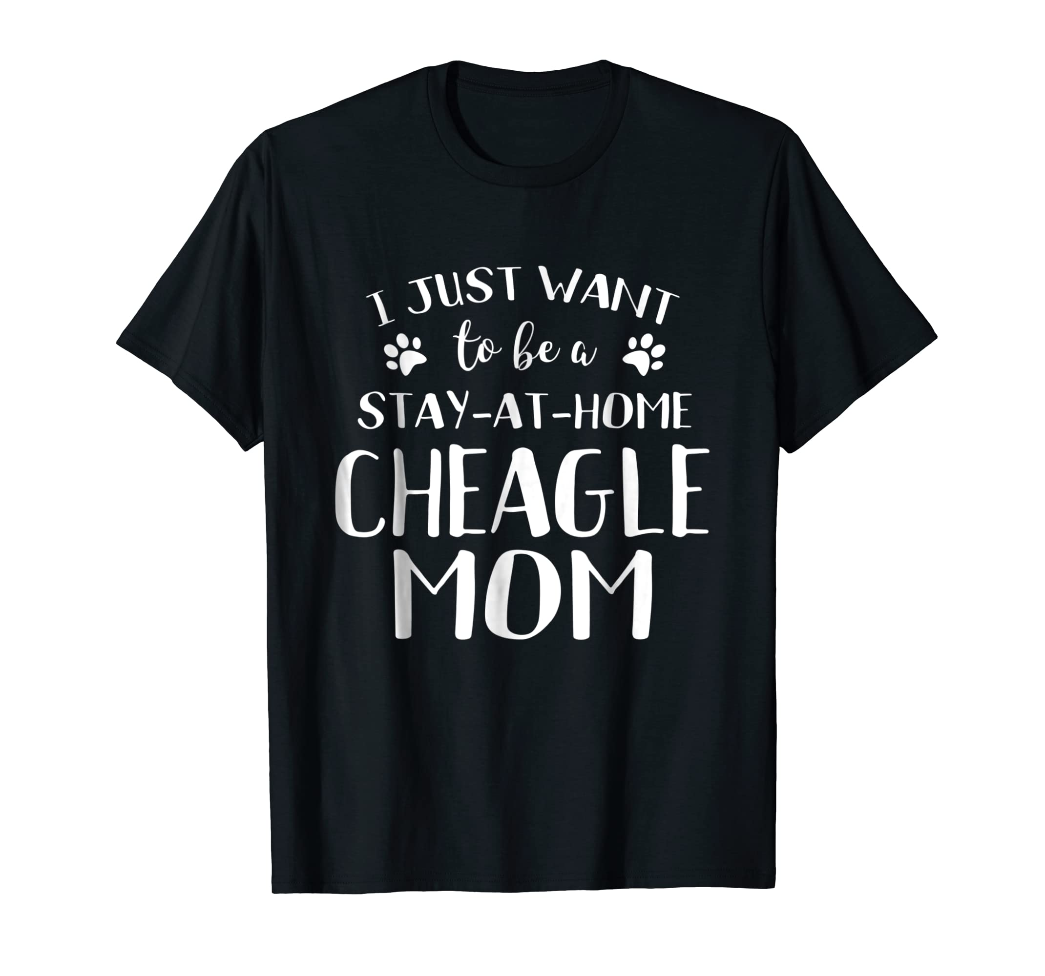 Cheagle Mom TShirt Cheagle Dog Breed Gift Pet Lover-Men's T-Shirt-Black