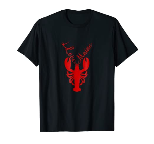 d3494463e9e Amazon.com  I love Maine T-shirt With Lobster Graphic  Clothing