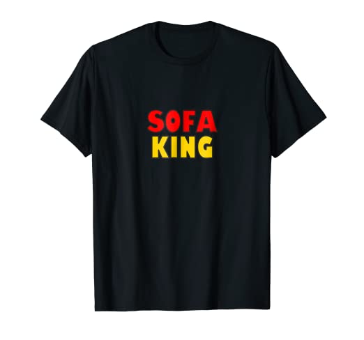 Amazon Com Sofa King Couch Potato Word Play T Shirt Clothing