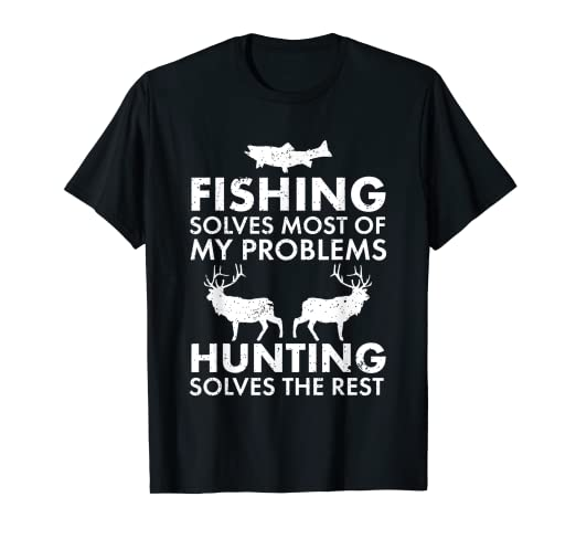 105f1665e Amazon.com: Funny Fishing And Hunting Shirt Hunter Cool: Clothing