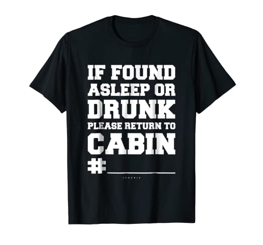 c627106f19 Image Unavailable. Image not available for. Color: If Found Asleep Or Drunk.  Funny Cruise Drinking Shirts