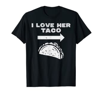 3f3e428003 Image Unavailable. Image not available for. Color: Mens I Love Her Taco  Matching Couple Cinco De Mayo Men Boyfriend T-Shirt