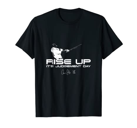 Amazon.com  Aaron Judge Rise Up - Judgement Day T-Shirt - Apparel ... a1636b554c4