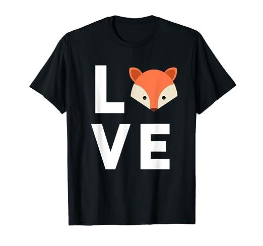 1c6fdd264 Amazon.com: Cute Fox T-Shirt - I Love Foxes Shirt Funny Kids Gift ...