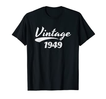 76a35f322 Image Unavailable. Image not available for. Color: 70th Birthday T-shirt  Gift Vintage 1949 Design