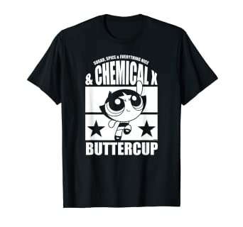 38f55a310 Image Unavailable. Image not available for. Color: CN Powerpuff Girls  Buttercup Chemical X Graphic Tee