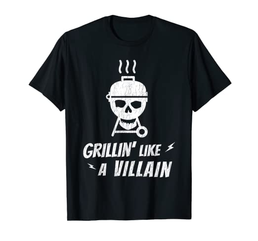 84d2d1712b3 Image Unavailable. Image not available for. Color  Grilling T Shirts Men  Cool Father s Day Skull Grill T Shirt