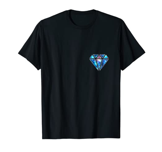 7222363f7 Image Unavailable. Image not available for. Color: Diamond Galaxy Universe  Infinity Love Symbol Pocket T-shirt