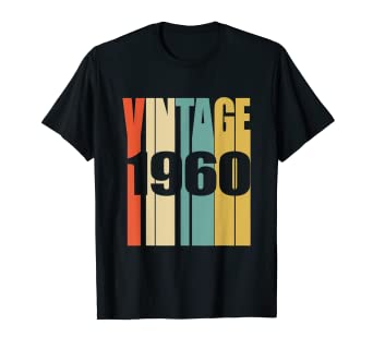 0f5fb948 Image Unavailable. Image not available for. Color: Retro Vintage 1960 T-Shirt  59 yrs old Bday 59th Birthday Tee