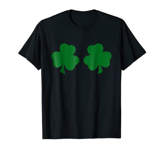 Image Unavailable. Image not available for. Color  Irish Shamrock Boobs  Funny St. Paddy s Day T-shirt b44b4fa83