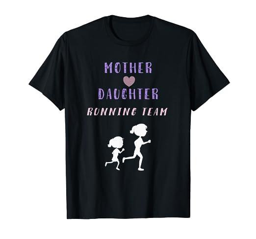 Amazon com: Cute Mother Daughter Running Team Shirts Runner