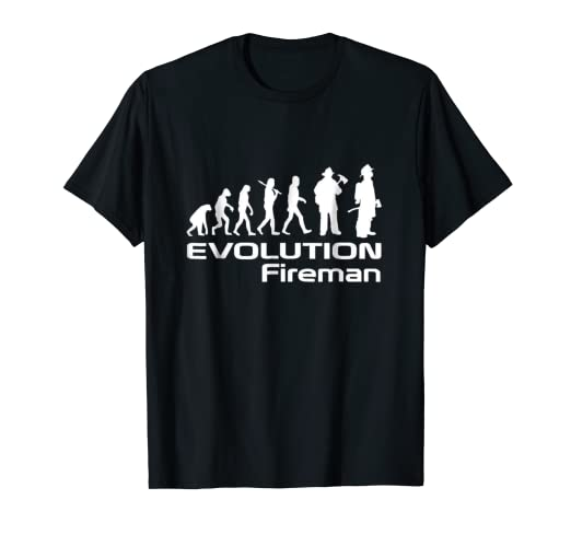 2666a4e6c Image Unavailable. Image not available for. Color: Firefighter Shirt -  Evolution Fireman T-shirt