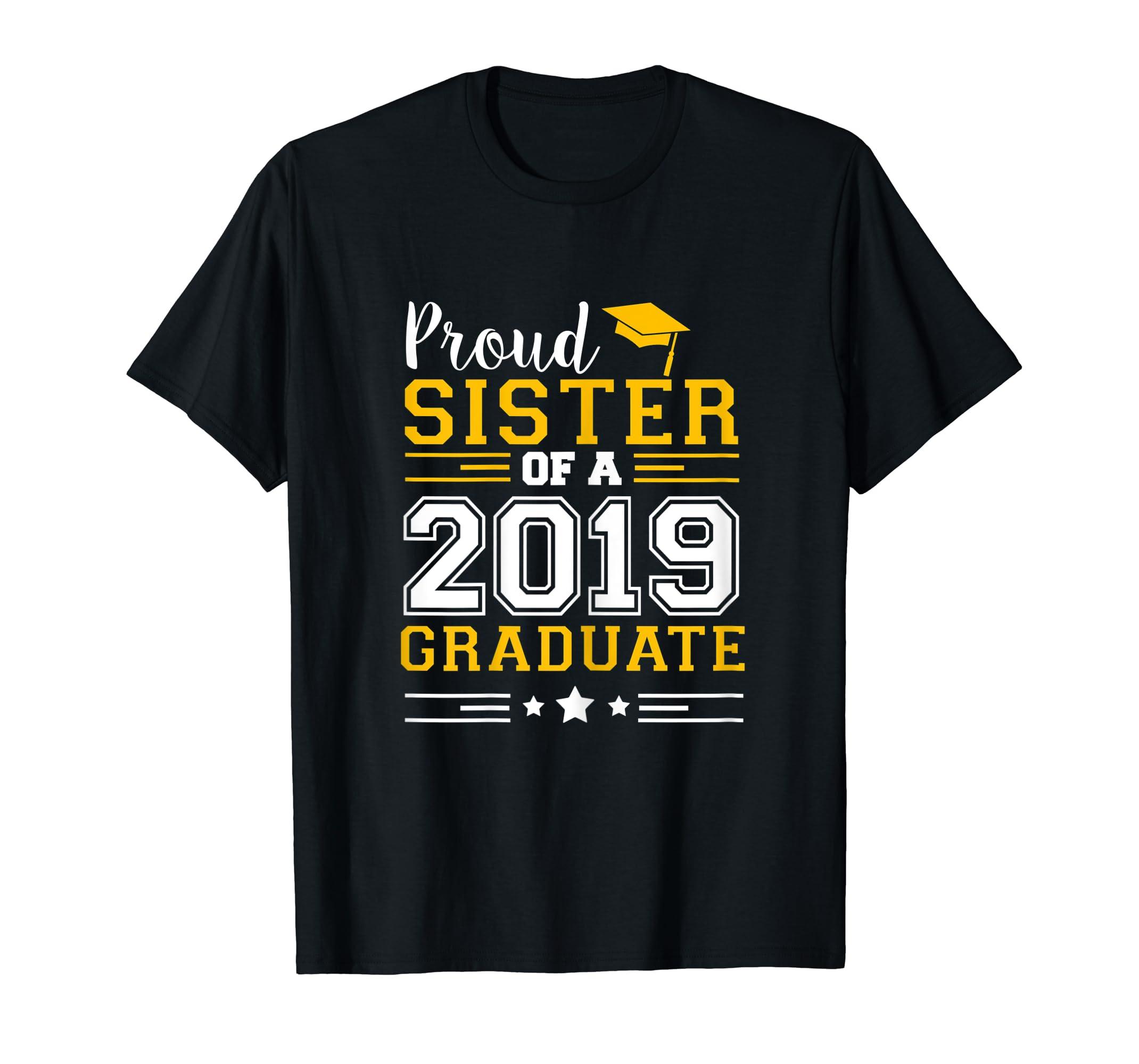 Matching Proud Sister Of A 2019 Graduate Set Shirt-Men's T-Shirt-Black