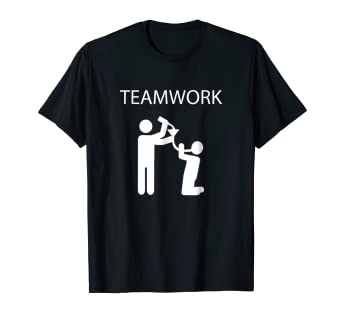 e6bb491f1c Image Unavailable. Image not available for. Color: Teamwork Funnel Drinking Team  Funny T-shirt