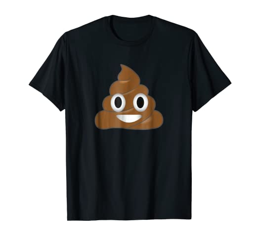 2bd1a8ed91fd0 Image Unavailable. Image not available for. Color  Emoji Poop Shirt ~  Novelty Funny t-shirt