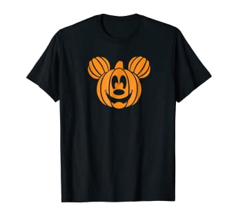 9e838f64d Image Unavailable. Image not available for. Color: Disney Mickey Mouse Halloween  Pumpkin head T-shirt