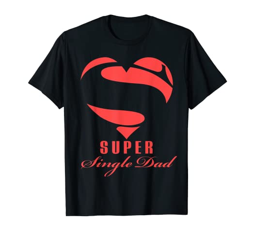 7e3b91b6 Image Unavailable. Image not available for. Color: Super Single Dad  Superhero T Shirt Gift Mother Father Day