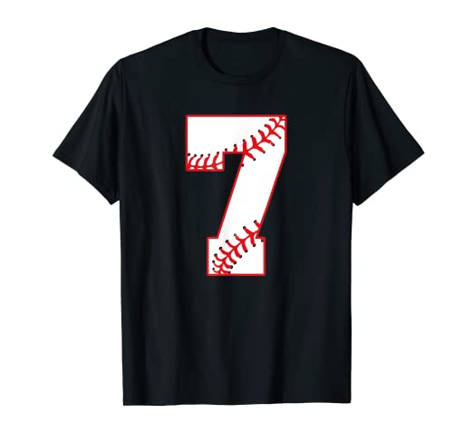Amazon 7th Baseball Lovers Number Birthday Party Kids Gift T