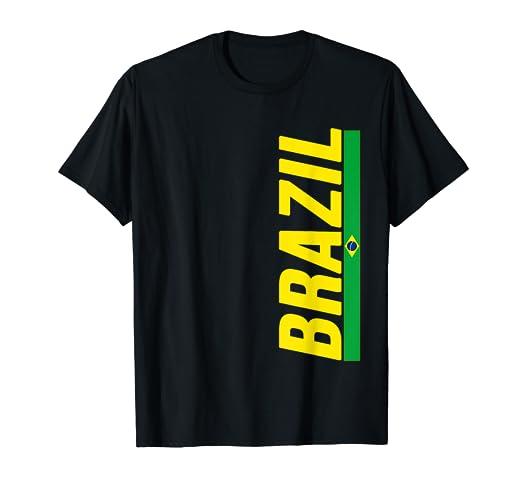 ac18eca78 Amazon.com  Brazil T-shirt Brazilian Flag Brasil Gift Souvenir ...