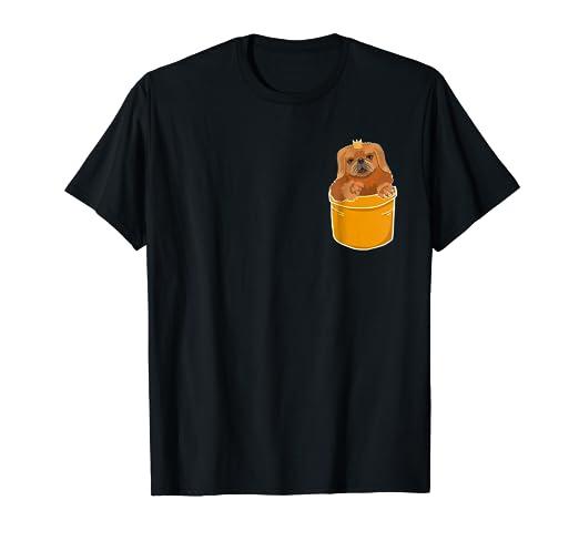 Amazon com: Pocket Pekingese Puppy! Cute Dog Lover T-Shirt