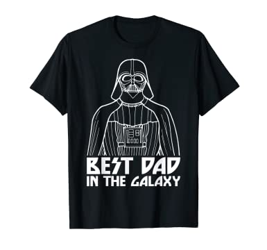 54bf22aa Amazon.com: Star Wars Darth Vader Best Dad In Galaxy Graphic T-Shirt:  Clothing