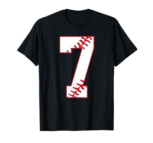Amazon Cute Seventh Birthday Party 7th Baseball T Shirt Born