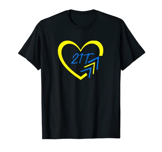 7974af065e238 Image Unavailable. Image not available for. Color: Heart World Down  Syndrome Awareness Day Love 3 Arrows Shirt