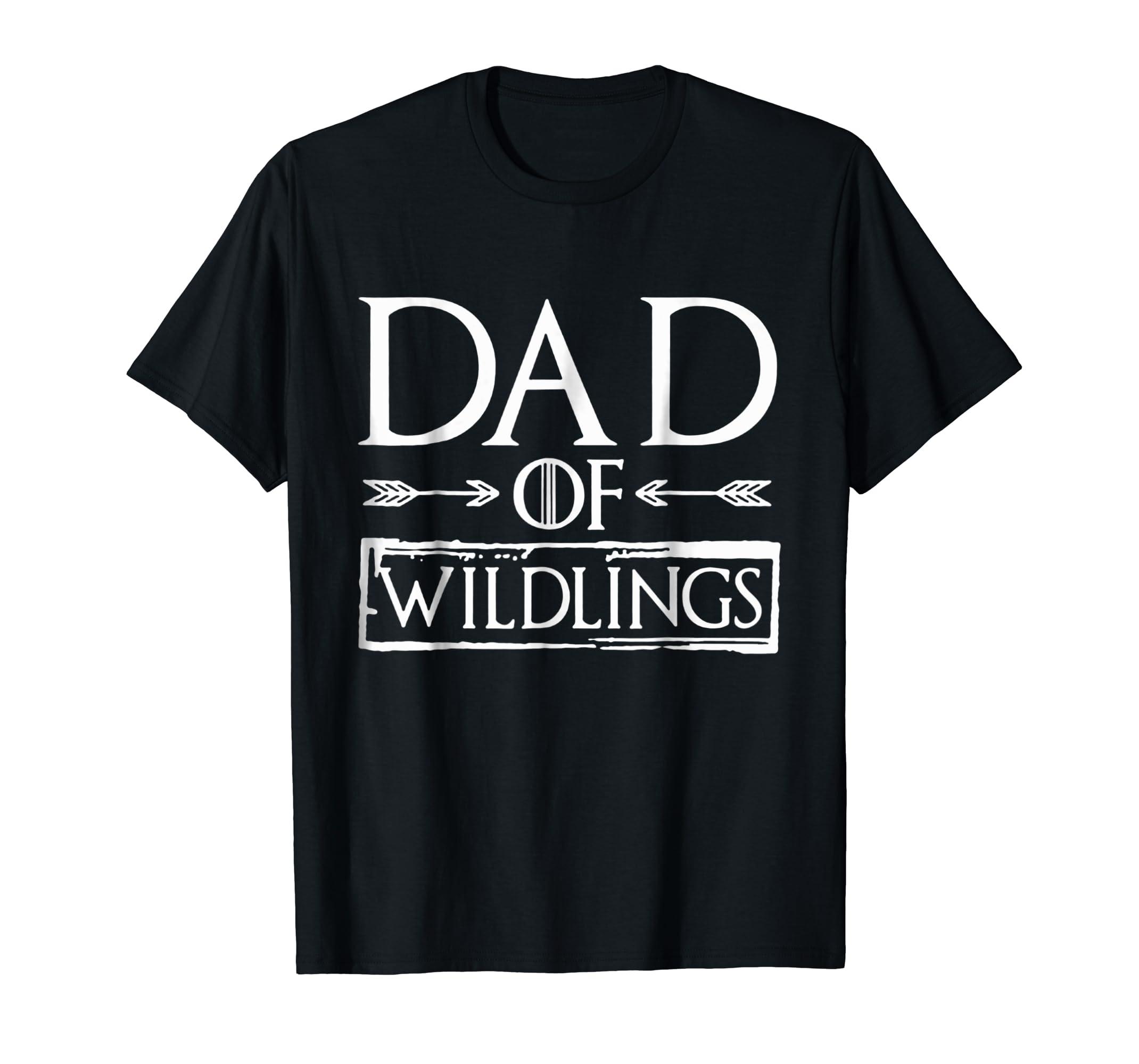 Dad Of Wildlings T-shirt-Men's T-Shirt-Black