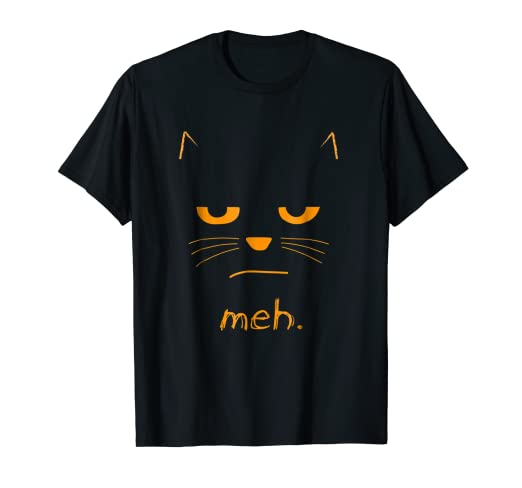 7ea5fe98 Image Unavailable. Image not available for. Color: Funny Halloween Cat t-shirt  MEH