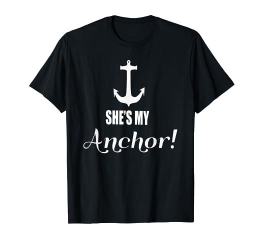 4e4dd5a14 Amazon.com: His Anchor and Her Sail matching couple Shirt Ship ...