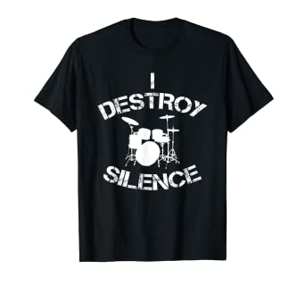 f877611d Image Unavailable. Image not available for. Color: Funny drummer T Shirt  musician gift for men & women drummers