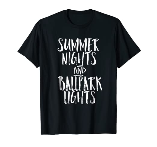 3ccf0c47 Image Unavailable. Image not available for. Color: Summer Nights And Ballpark  Lights Shirt Cute Baseball Mom T