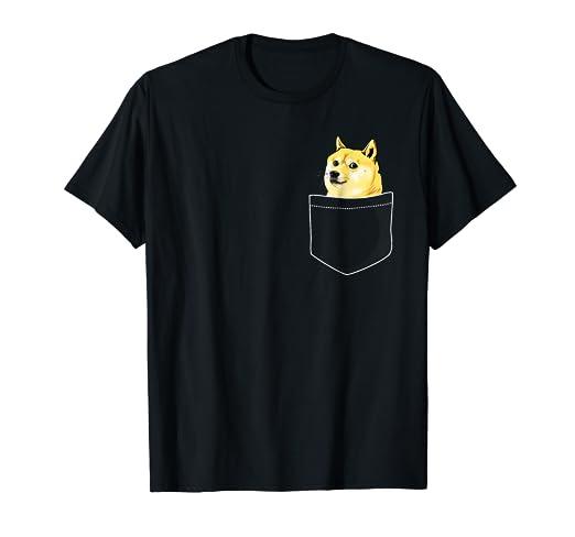 5c4fef27d Amazon.com: Pocket Doge Shiba Inu Dank Meme T-Shirt: Clothing