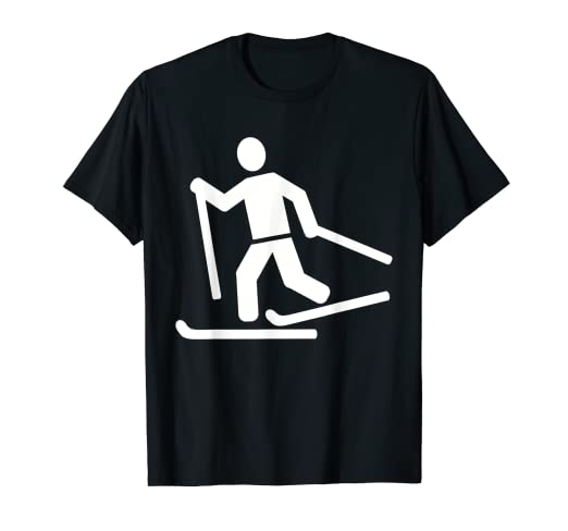 f31e9cbb Image Unavailable. Image not available for. Color: Cross-country ski T-Shirt